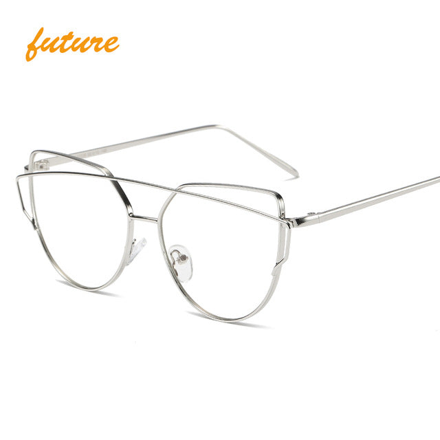 Metal Reflective flat lens Sunglasses