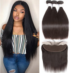 Malaysian Straight Human Hair with  Frontal Closure