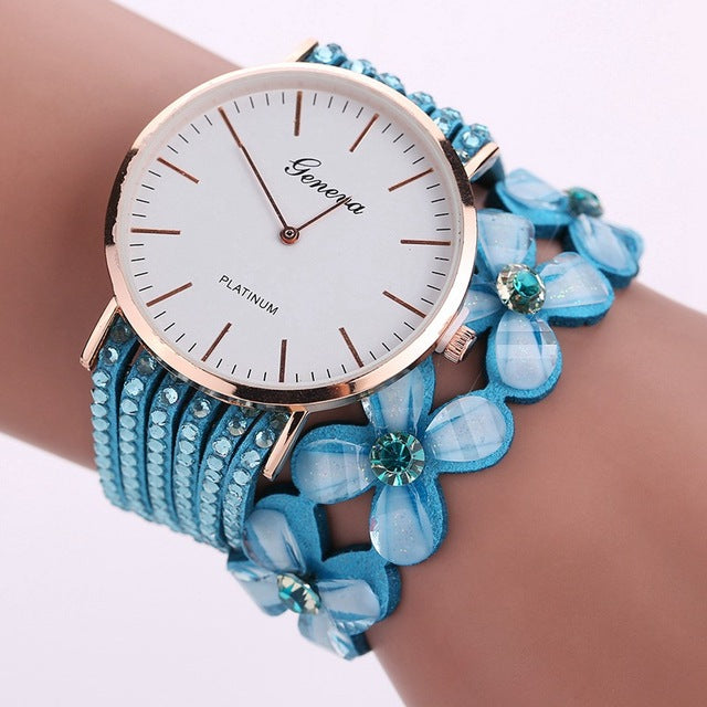 Elegant Geneva Flowers Watches
