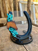 Load image into Gallery viewer, Rustic Horseshoe Earring Holder