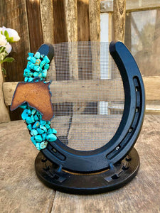 Rustic Horseshoe Earring Holder