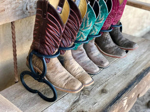 Black Horseshoe Boot Rack