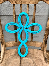 Load image into Gallery viewer, Turquoise Horseshoe Cross