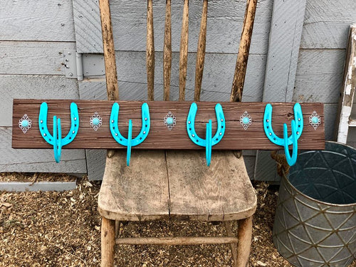 Rustic Horseshoe Coat Rack