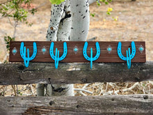 Load image into Gallery viewer, Rustic Horseshoe Coat Rack