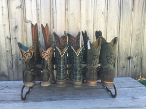 Brown Horseshoe Boot Rack- 6 Pairs of Boots