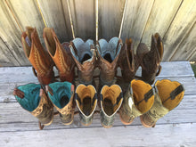 Load image into Gallery viewer, Brown Horseshoe Boot Rack- 6 Pairs of Boots