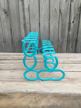 Load image into Gallery viewer, Turquoise Horseshoe Boot Rack- 6 Pairs of Boots