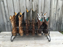 Load image into Gallery viewer, Natural Horseshoe Boot Rack- 6 Pairs of Boots