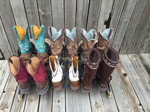 Horseshoe Boot Rack- 6 Pairs of Boots