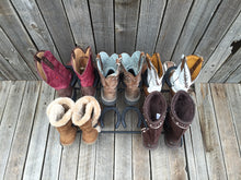 Load image into Gallery viewer, Black Horseshoe Boot Rack- 6 Pairs of Boots