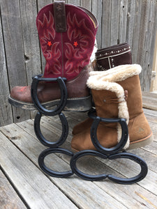 Black Horseshoe Boot Rack- 6 Pairs of Boots