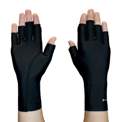 Isotoner Glove Black 3/4 Finger  Single