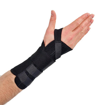 Latex Free Wrist Long  Brace - Black