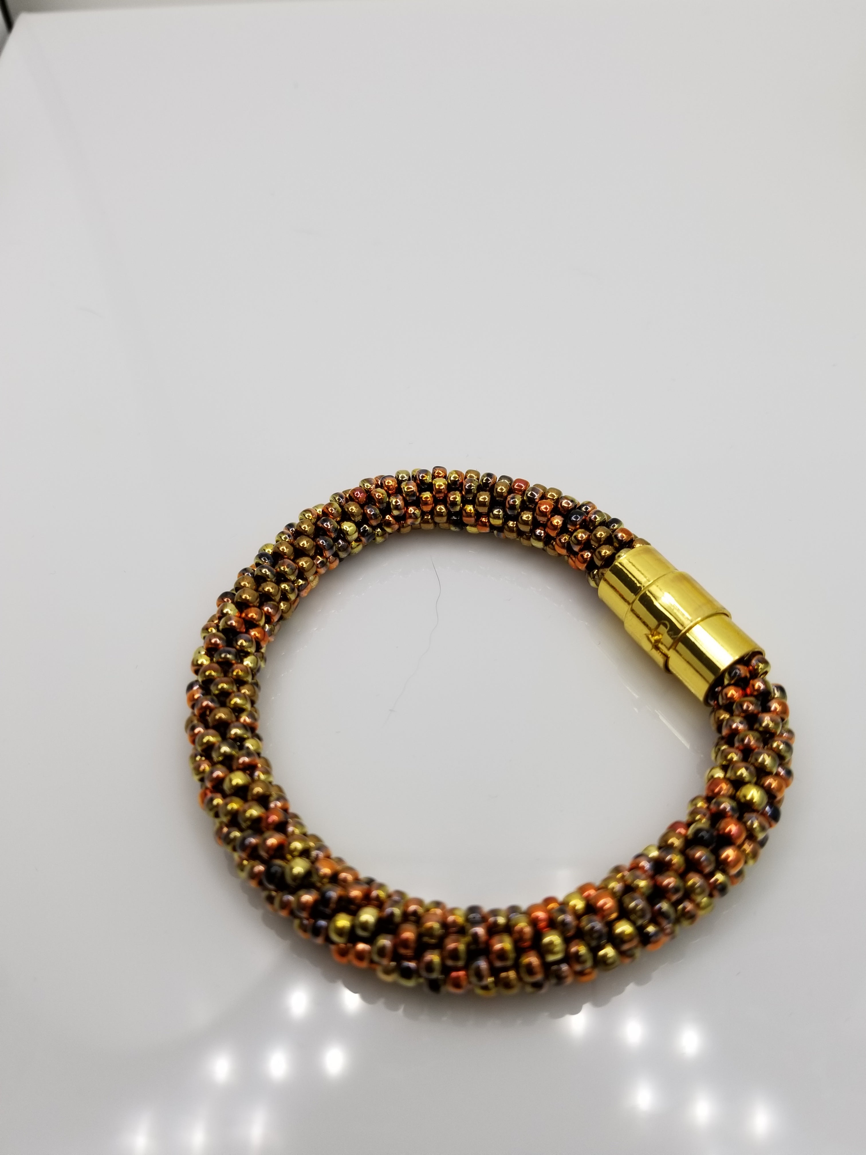 Shades of Gold and Copper Glass Beads
