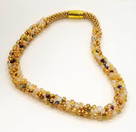 Gold and Clear Glass Beads