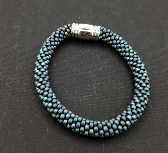 Mutted Mallard Blue Beaded Bracelet