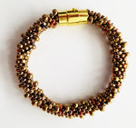 Fun Gold & Copper Glass Beads