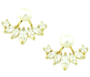Aly Pearl & Sparkle Ear Jackets
