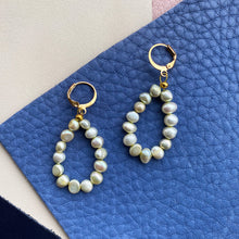 Load image into Gallery viewer, Freshwater Pearl Hoops