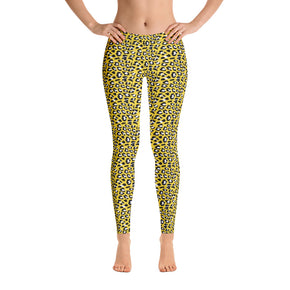 Hello Yellow Animal Print Leggings