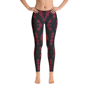 Dark Red Dharma Leggings