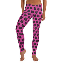 Load image into Gallery viewer, Crazy Cat Lady Leggings, Fuschia