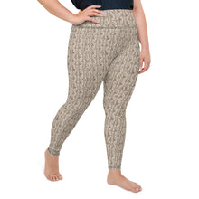 Load image into Gallery viewer, Cable Knit Print Leggings - Plus