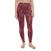 Load image into Gallery viewer, Scarlet Snakeskin Print Yoga Leggings