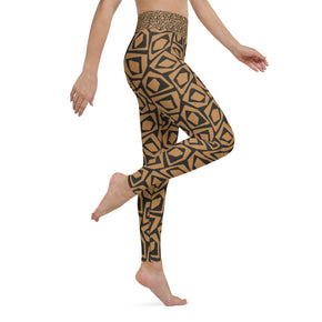 Malia Yoga Leggings, Brown & Black