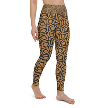 Load image into Gallery viewer, Malia Yoga Leggings, Brown & Black