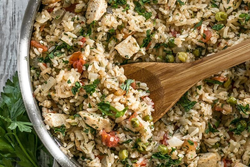 One Pot Chimichurri Chicken and Rice