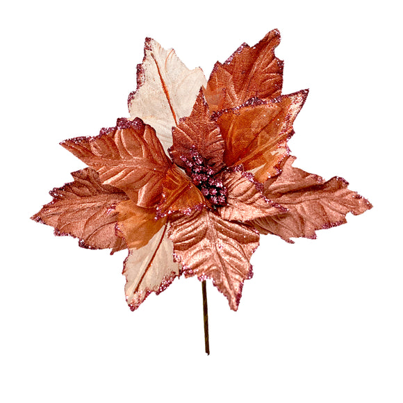 Nochebuena organza 55cm rose gold
