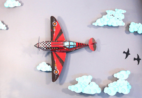 DIY Candy Bomber Airplane DIY紙製飛機糖果收納盒