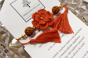Himalayan Rakhi Crochet Friendship Bracelet / Bookmark (Orange) 喜馬拉雅山純棉編織手環 /書籤(橙色)