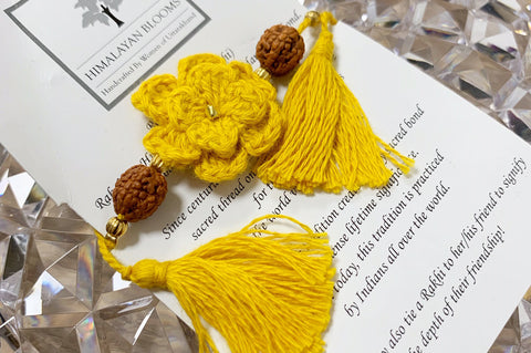 Himalayan Rakhi Crochet Friendship Bracelet / Bookmark (Yellow) 喜馬拉雅山純棉編織手環 /書籤(黃色)