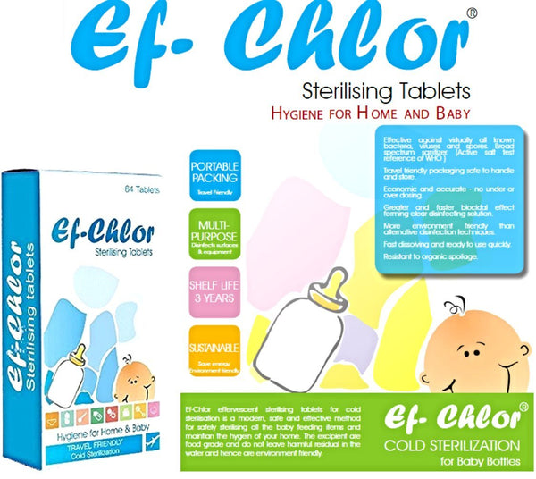 Ef-Chlor Sterilizing Tablets 嬰兒奶瓶冷式消毒片