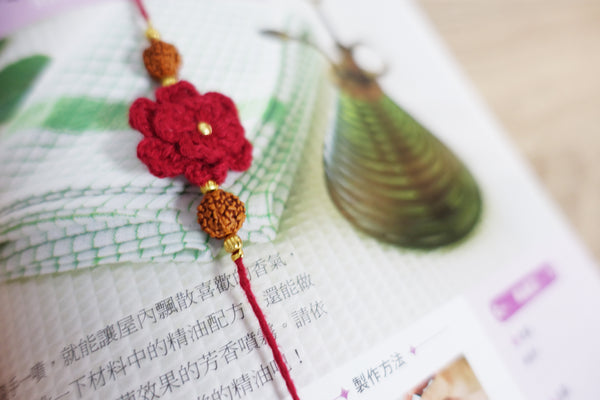 Himalayan Rakhi Crochet Friendship Bracelet / Bookmark (Yellow) 喜馬拉雅山純棉編織幸運手環 /書籤(黃色)