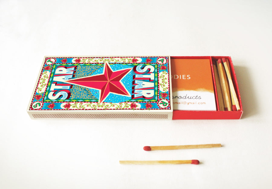 DIY Matchbox Business Card Holder: STAR DIY火柴盒名片盒(圖案:星星)