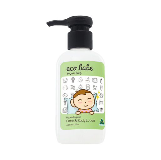 eco.babe organics Hypoallergenic Face & Body Lotion (225ml) 澳洲有機減敏保濕滋潤護膚乳