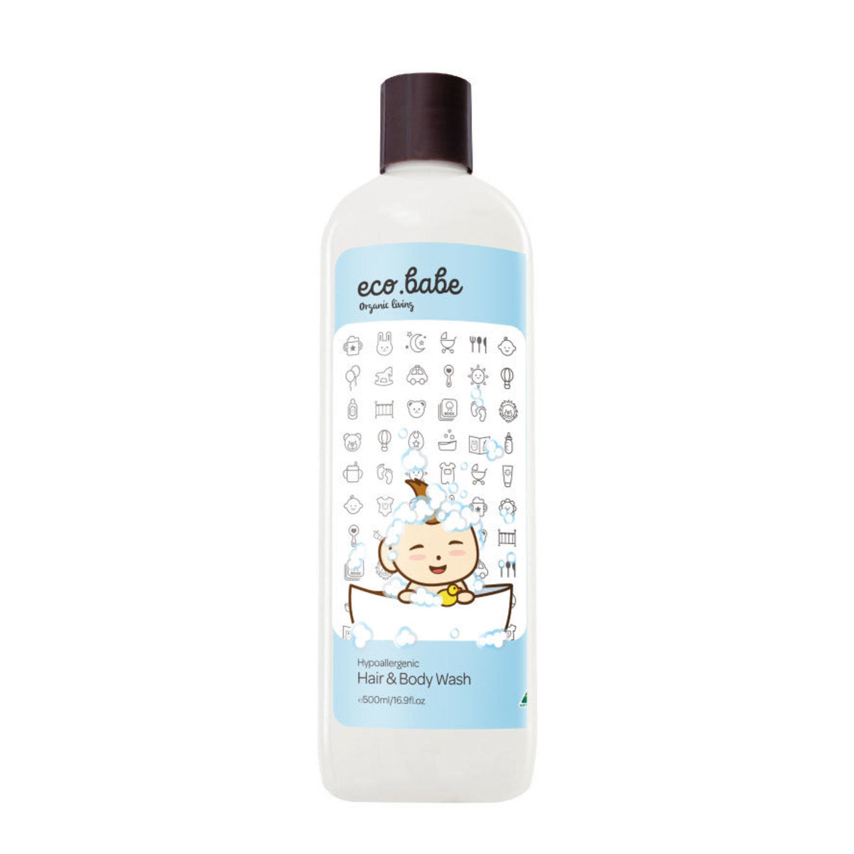 eco.babe organics Hypoallergenic Hair & Body Wash(500ml)澳洲有機減敏洗髮沐浴露