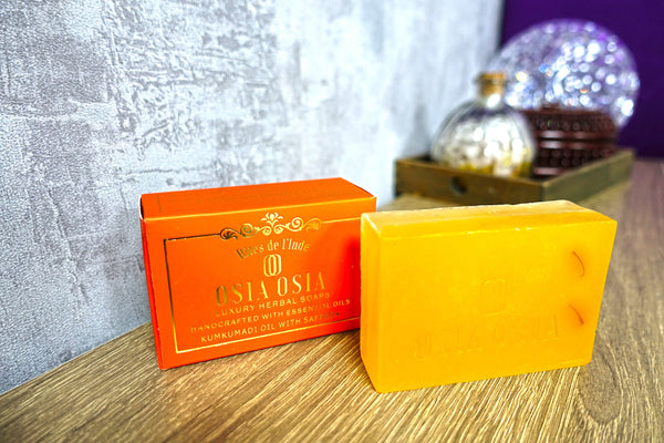 Kumkumadi Oil with Saffron Handcrafted Luxury Herbal Soap 藏紅花 Kumkumadi 精油手工芳療皂