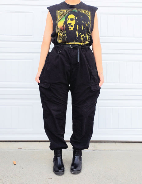 Black Oversized Boyfriend Workpants - 38x36