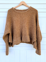 Load image into Gallery viewer, Camel Cropped Sweater - M/L