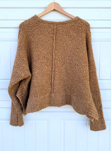 Camel Cropped Sweater - M/L