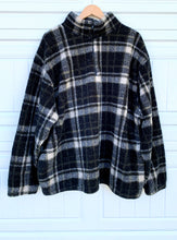 Load image into Gallery viewer, Oversized Plaid Fleece Pullover Sweater - XL