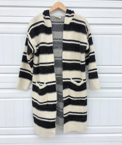 Stripey Hooded Cardigan - Medium