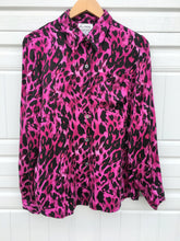 Load image into Gallery viewer, Wild Print Silk Blouse - Medium