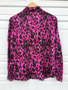 Wild Print Silk Blouse - Medium