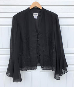 Vintage Sheer Beaded Blazer - Large
